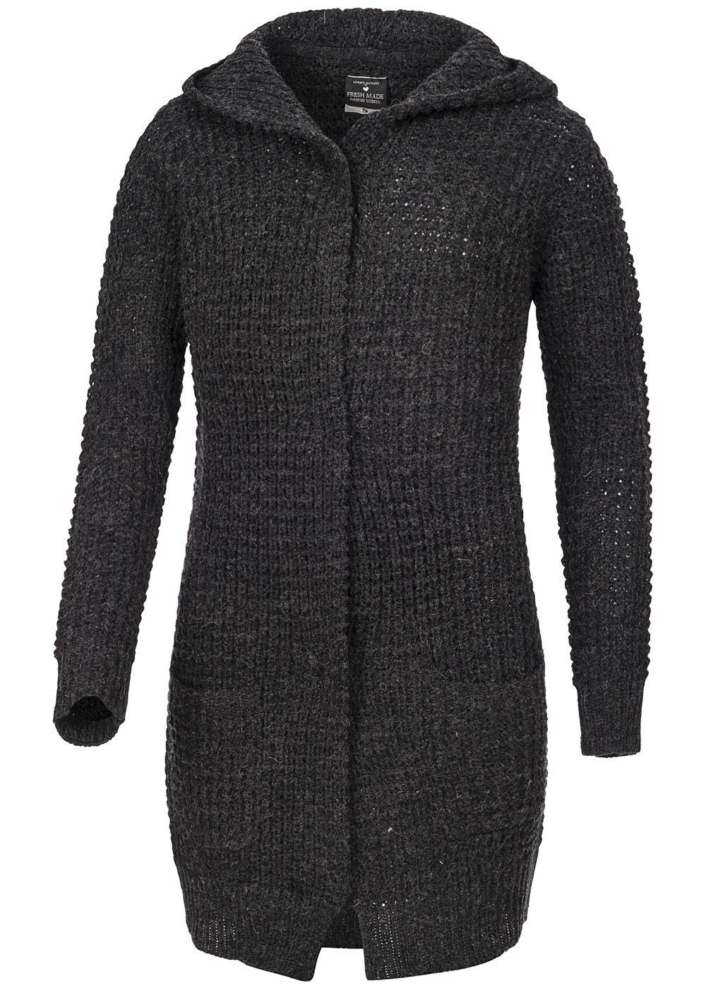 eight2nine damen longform cardigan mit kapuze 2 taschen by fresh made. Black Bedroom Furniture Sets. Home Design Ideas
