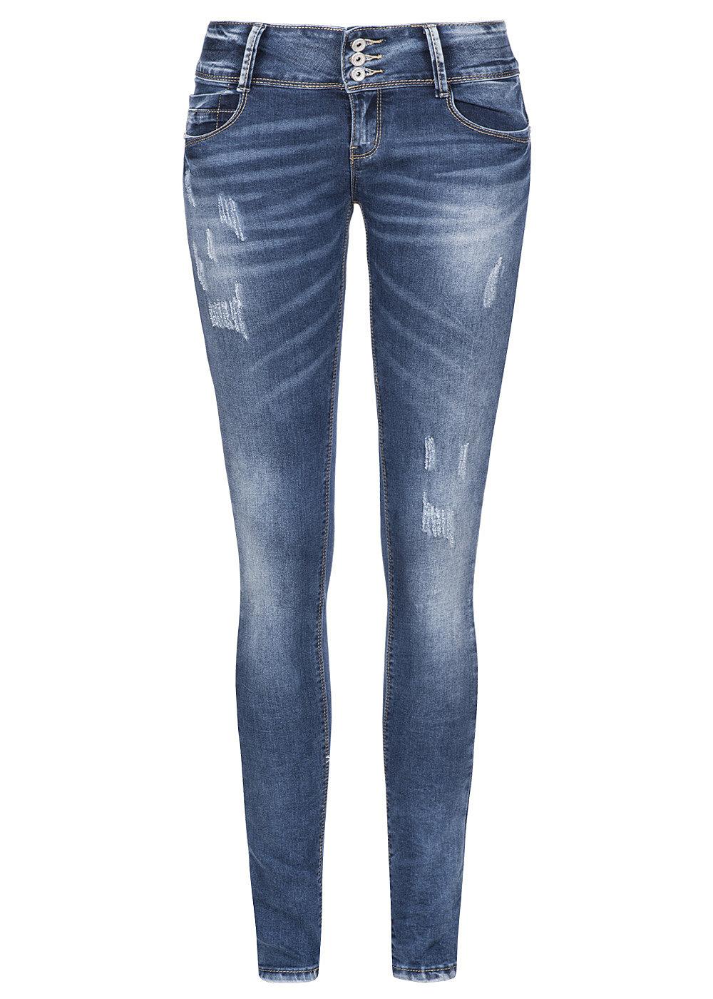 hailys damen jeans low waist 5 pockets 3 kn pfe destroy. Black Bedroom Furniture Sets. Home Design Ideas