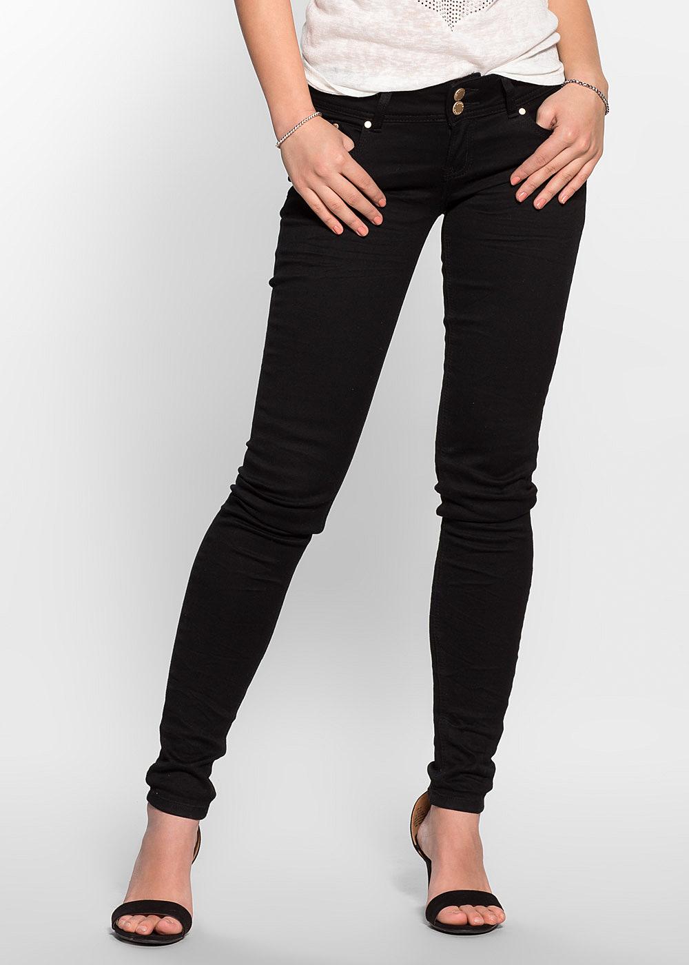 hailys damen skinny jeans low waist 5 pocket style 2. Black Bedroom Furniture Sets. Home Design Ideas