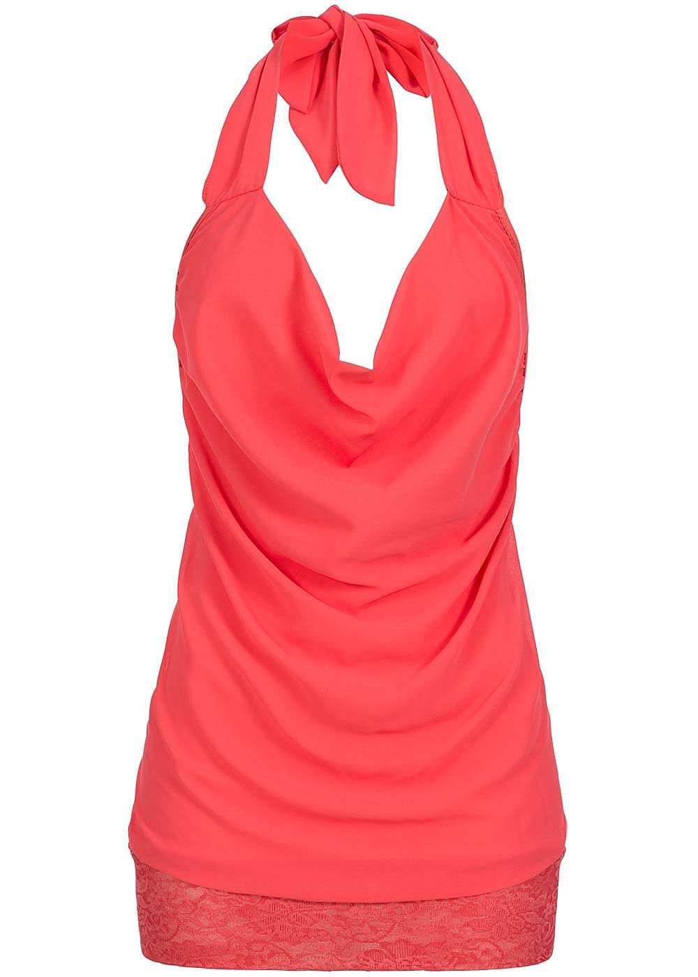 Styleboom fashion damen chiffon top neckholder spitze for Top deko shop