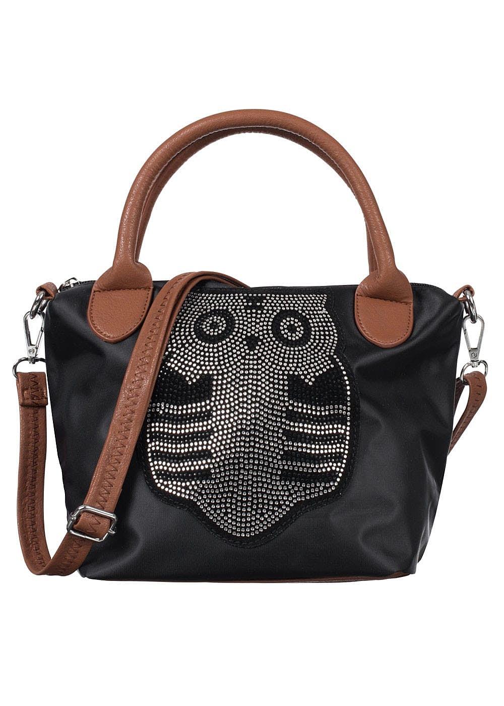 hailys damen handtasche klein h he 20cm breite 30cm eule. Black Bedroom Furniture Sets. Home Design Ideas