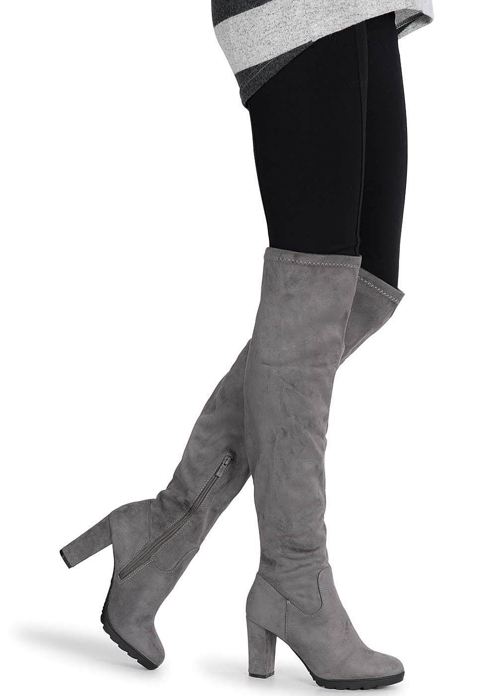 seventyseven lifestyle schuh overknee stiefel absatz 9cm. Black Bedroom Furniture Sets. Home Design Ideas