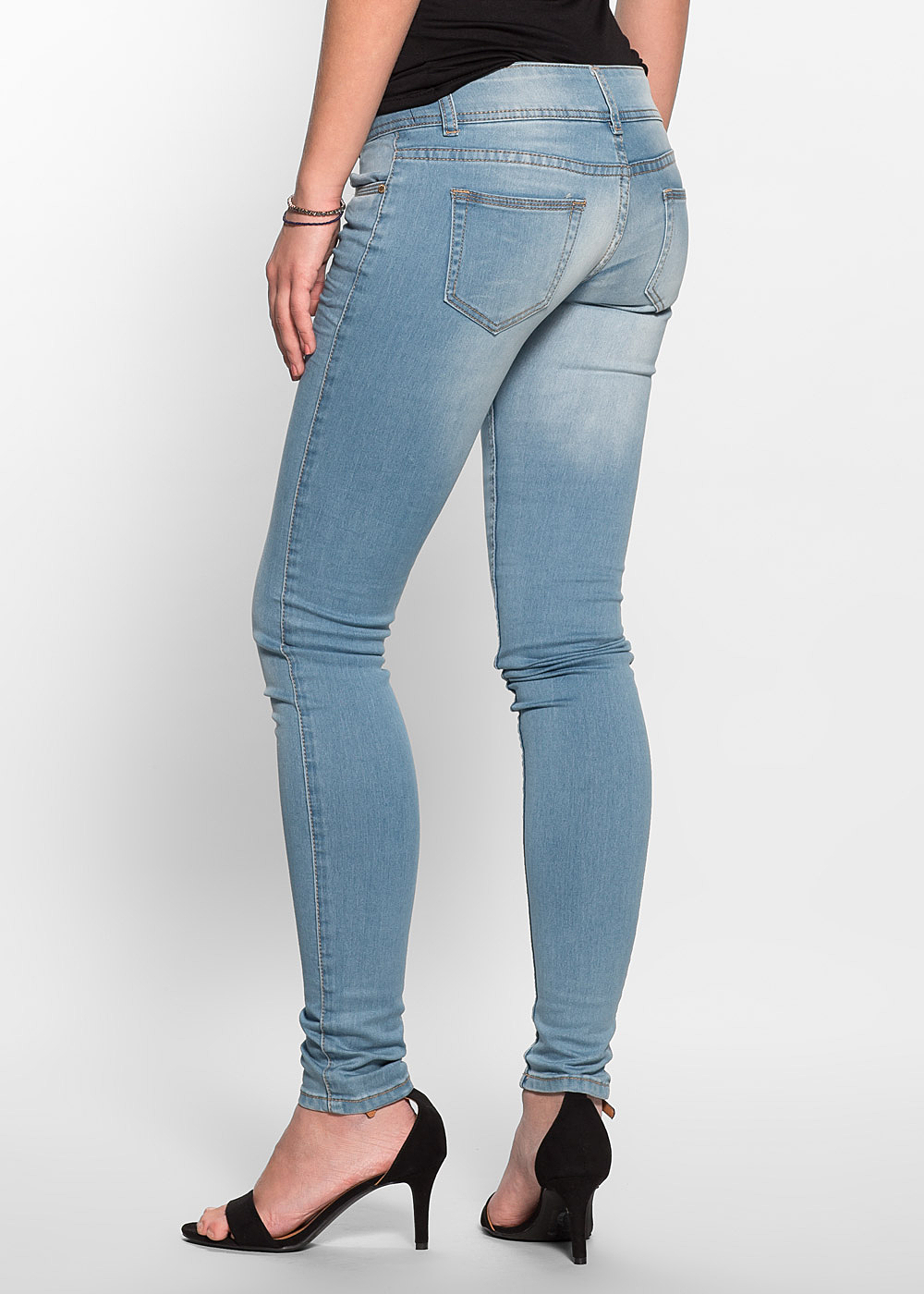 hailys damen jeans low waist 5 pocket style 2 kn pfe blau. Black Bedroom Furniture Sets. Home Design Ideas
