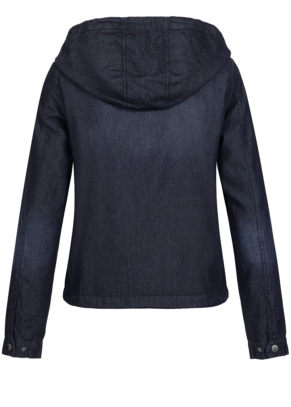 only damen short denim parka noos 2 taschen kapuze kordelzug medium blau denim 77onlineshop. Black Bedroom Furniture Sets. Home Design Ideas