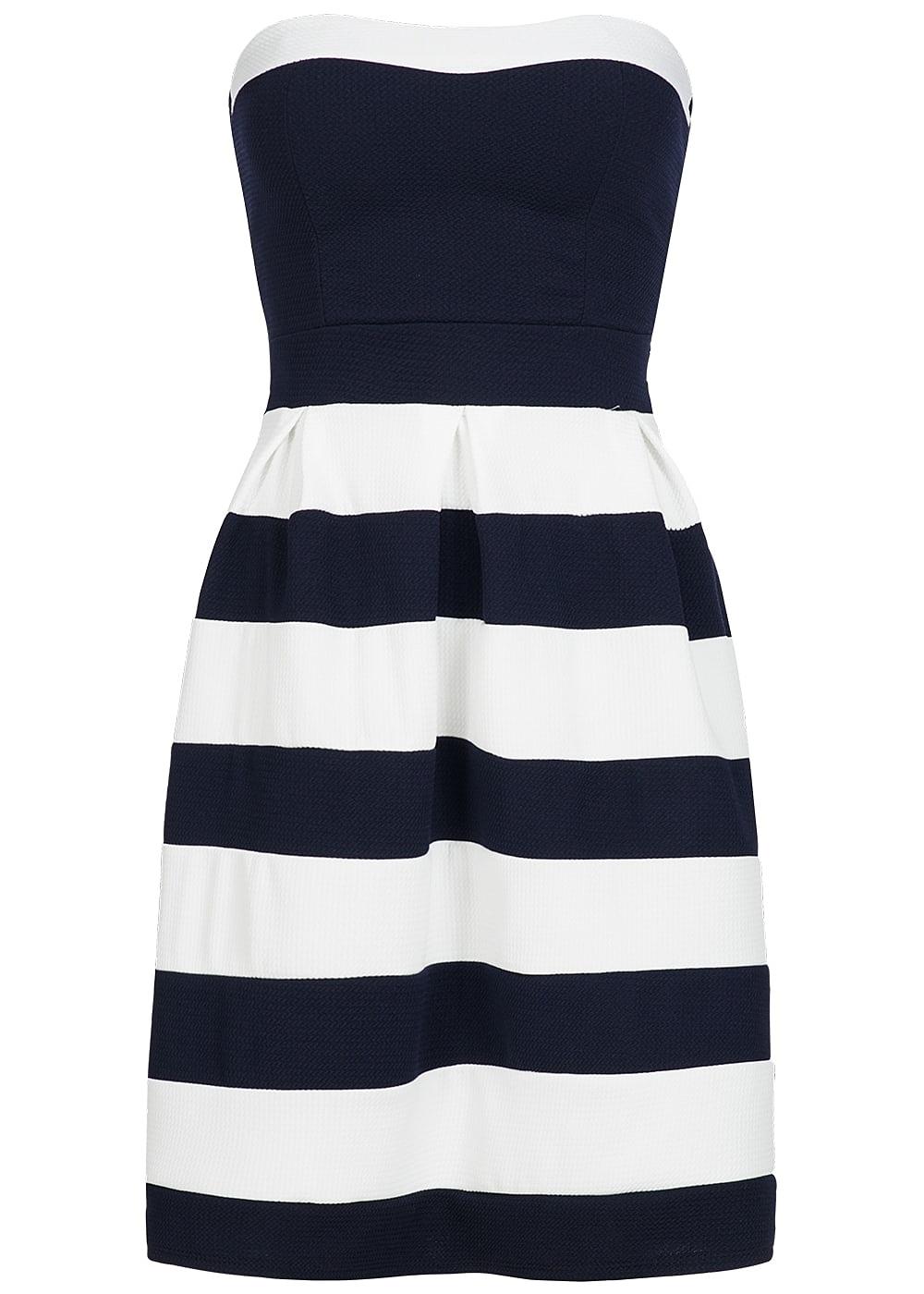 Styleboom Fashion Damen Mini Bandeau Kleid gestreift ...