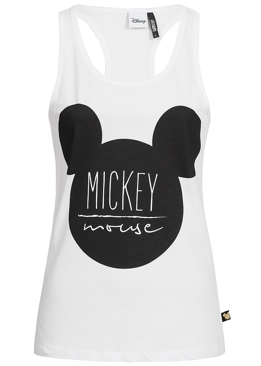 hailys damen tank top mickey mouse print weiss 77onlineshop. Black Bedroom Furniture Sets. Home Design Ideas