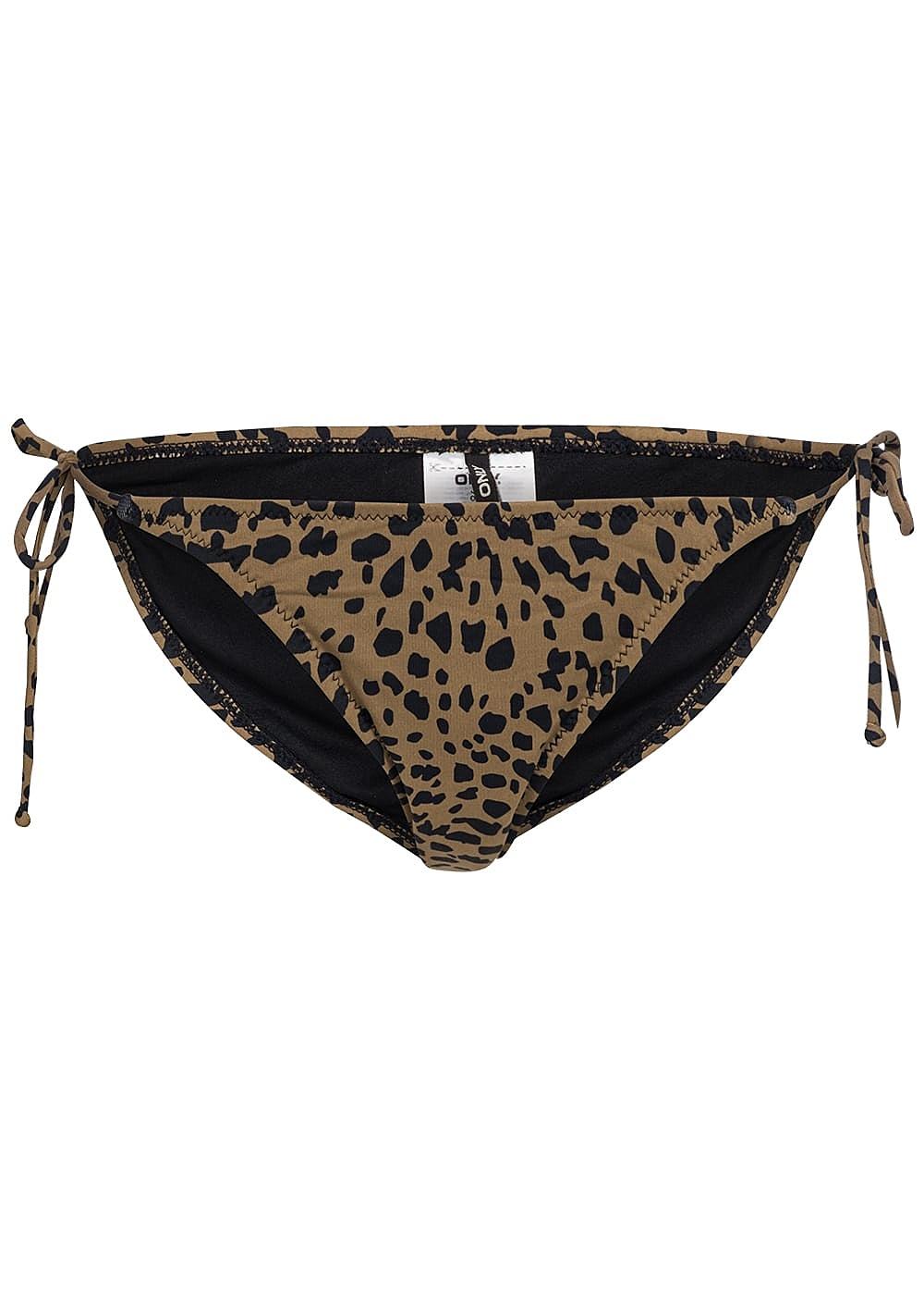 only damen bikini hose falken muster braun schwarz. Black Bedroom Furniture Sets. Home Design Ideas