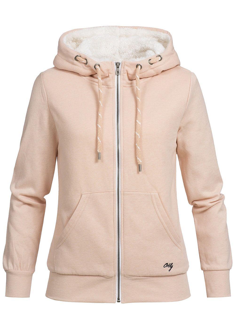 only damen zip hoodie kapuze teddyfutter 2 taschen cameo. Black Bedroom Furniture Sets. Home Design Ideas