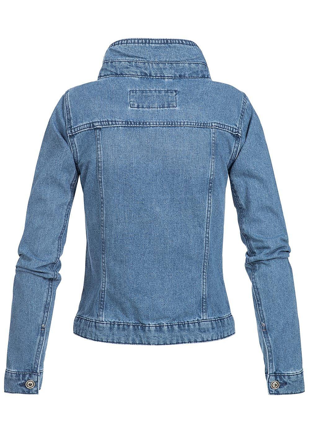 only damen jeans jacke 2 brusttaschen medium blue denim 77onlineshop. Black Bedroom Furniture Sets. Home Design Ideas