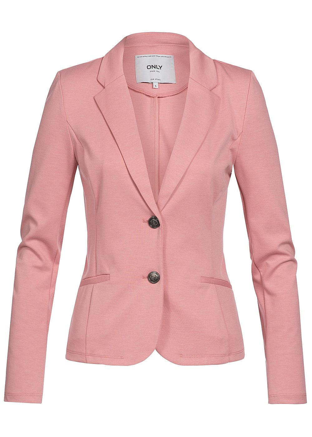 only damen blazer 2 taschen 2er knopfleiste blush rosa mel 77onlineshop. Black Bedroom Furniture Sets. Home Design Ideas