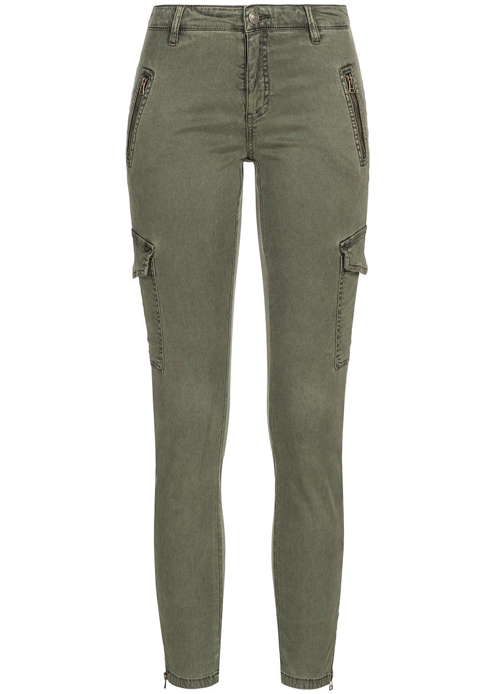 only damen cargo jeans hose 4 pockets 2 deko taschen hinten tarmac olive gr n 77onlineshop. Black Bedroom Furniture Sets. Home Design Ideas