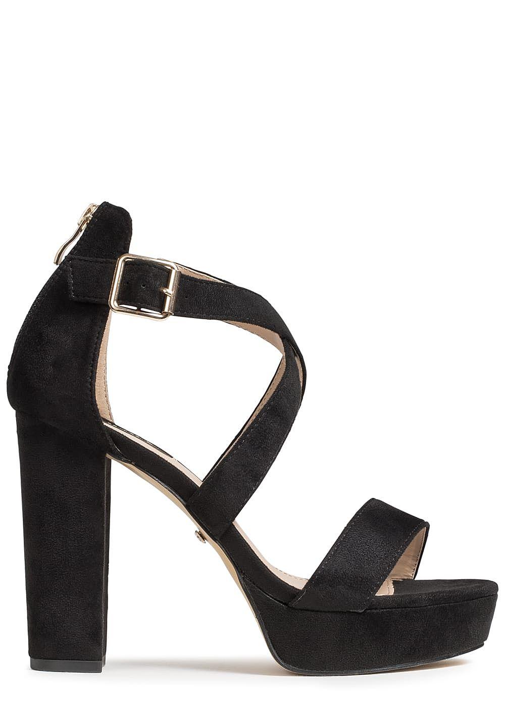 seventyseven lifestyle damen schuh sandalette blockabsatz 11 5cm wildleder optik schwarz. Black Bedroom Furniture Sets. Home Design Ideas