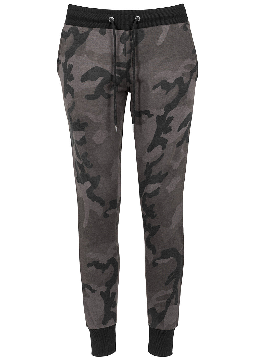 seventyseven lifestyle damen terry jogging pants camouflage design dunkel camouflage 77onlineshop. Black Bedroom Furniture Sets. Home Design Ideas