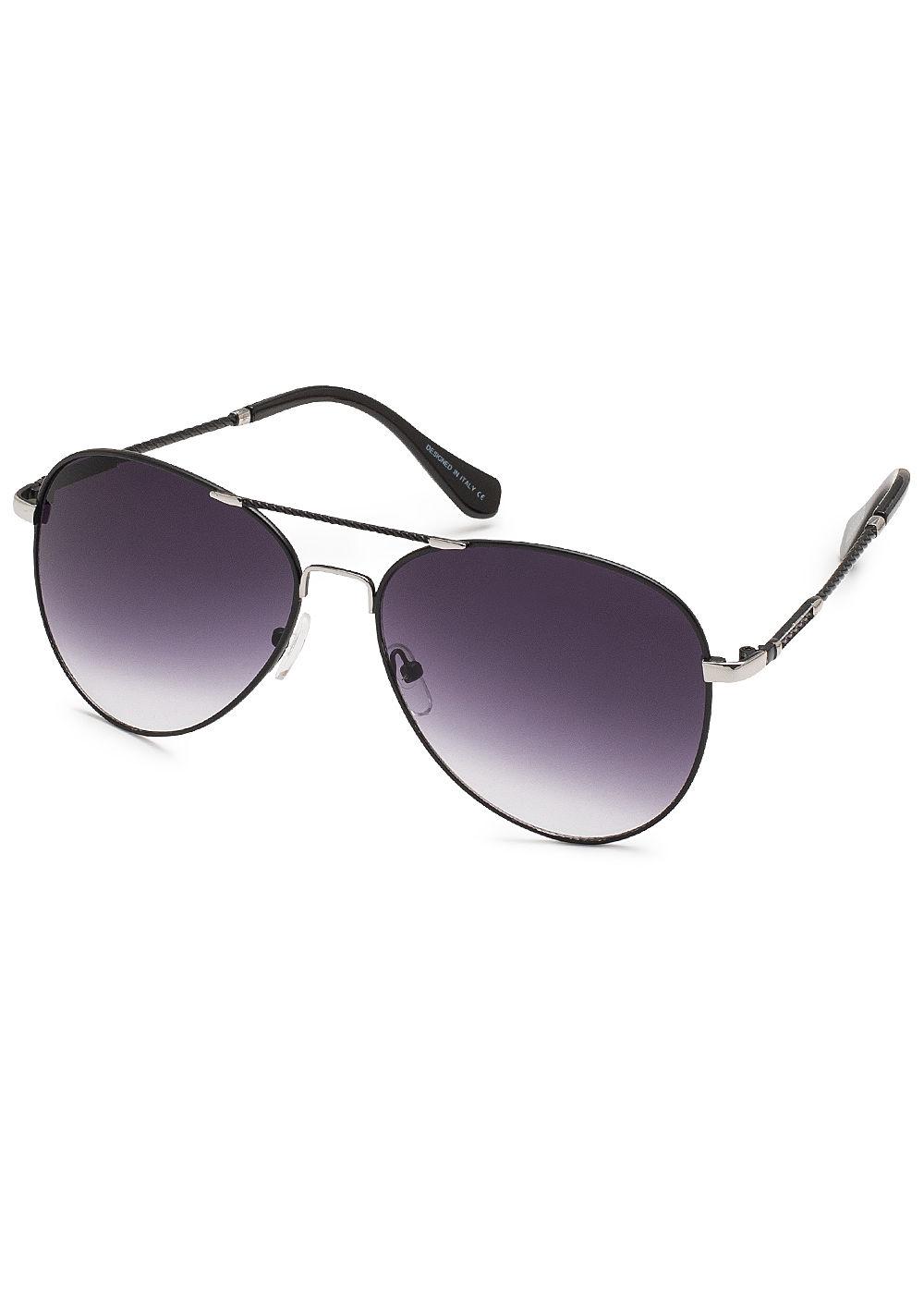 hailys damen sonnenbrille uv schutz 400 schwarz silber 77onlineshop. Black Bedroom Furniture Sets. Home Design Ideas
