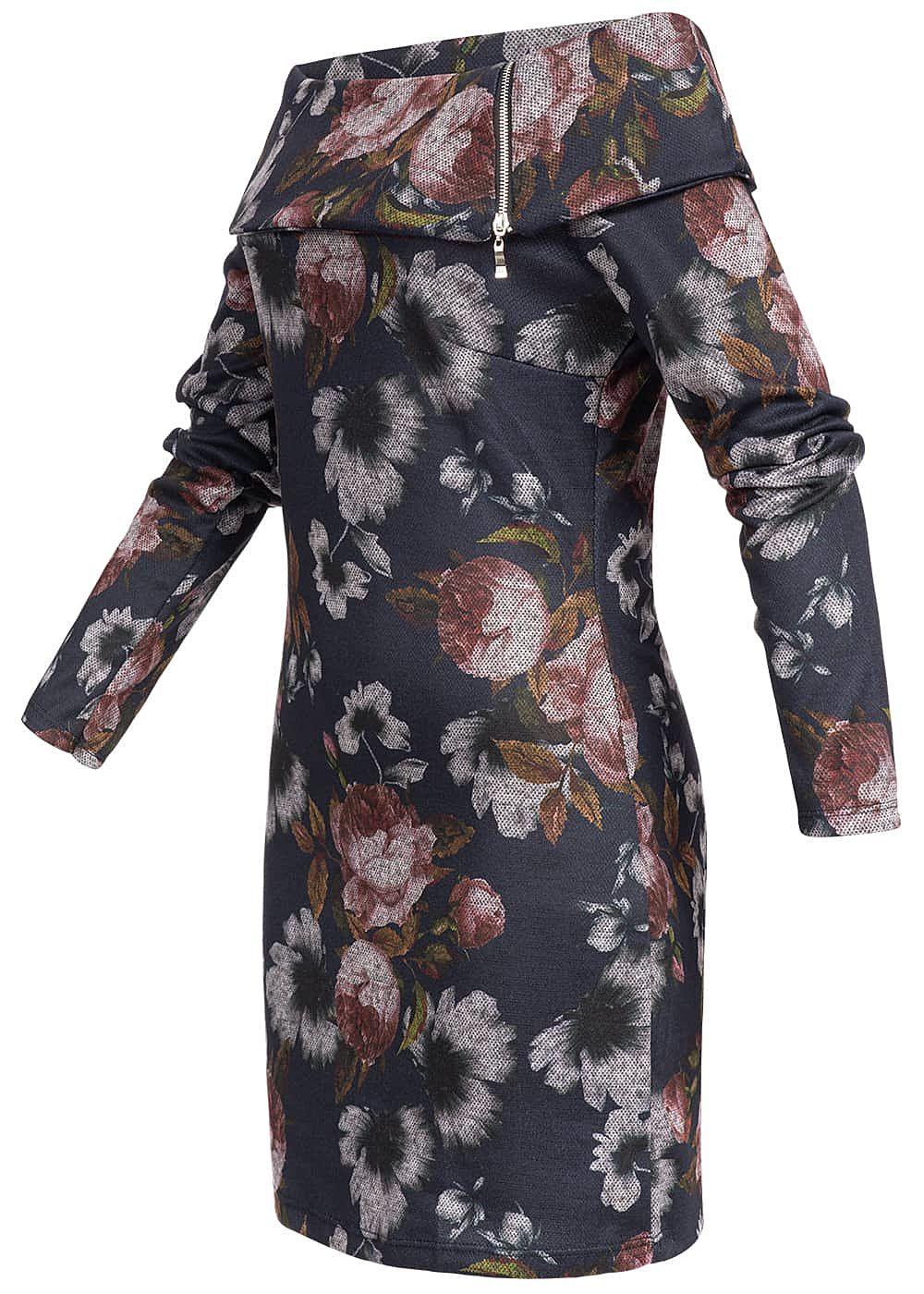 Styleboom Fashion Damen Mini Off-Shoulder Kleid Blumen ...