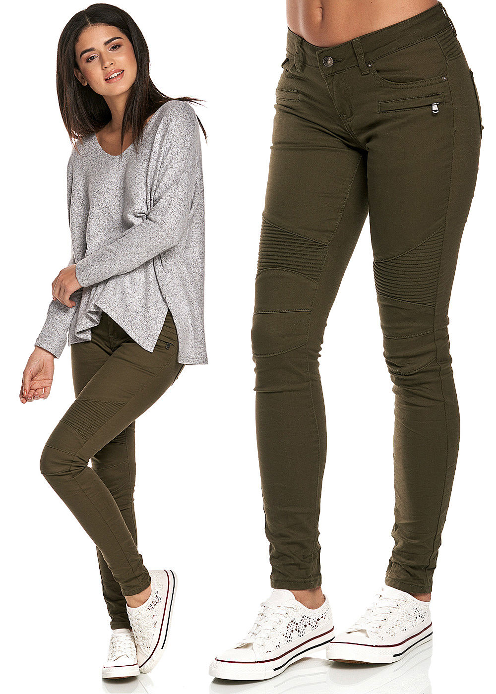 seventyseven lifestyle damen biker jeans hose 5 pockets. Black Bedroom Furniture Sets. Home Design Ideas