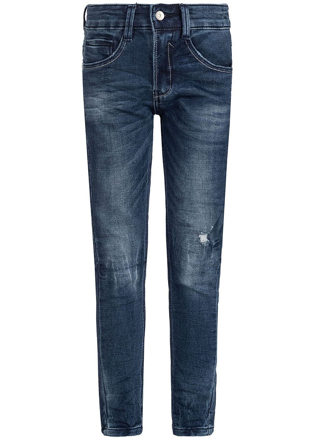 Hailys Kids Jungen Jeans 5-Pockets Destroy Look dunkel blau denim - Art.-Nr.: 19104371