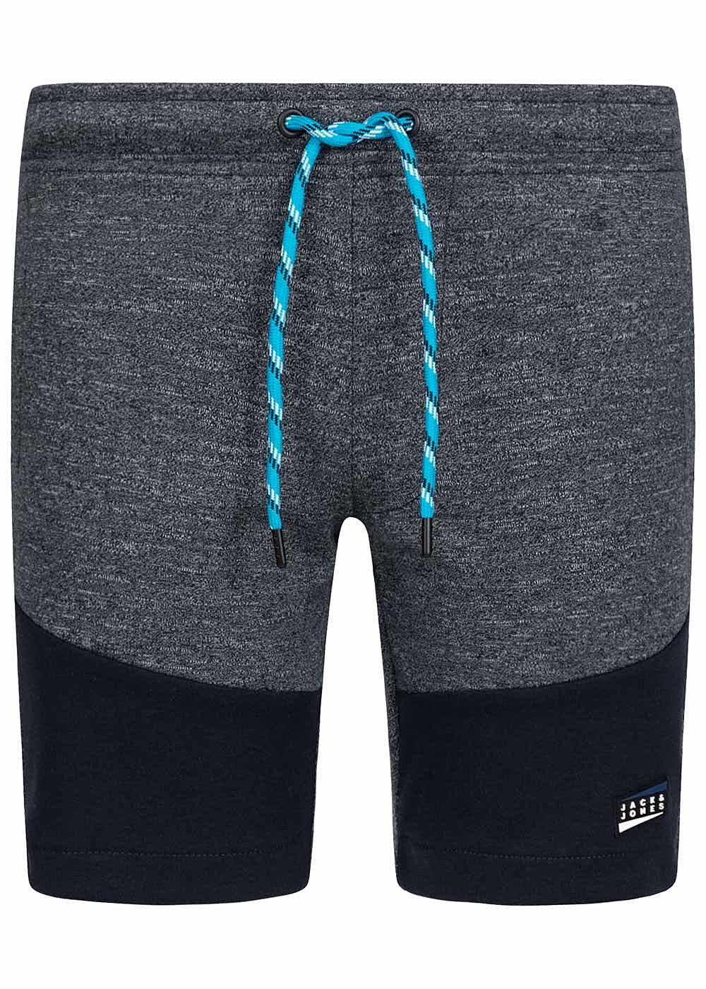 Jack and Jones Junior Melange Sweat Shorts 2-Pockets Tunnelzug sky captain blau - Art.-Nr.: 20041726