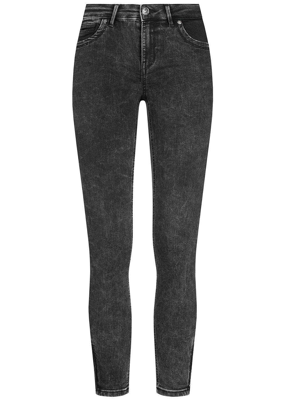 ONLY Damen Ankle Jeans Hose Regular Waist 5-Pockets washed schwarz denim - Art.-Nr.: 20084011