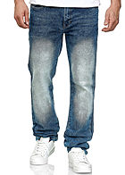 Southpole Herren Basic Skinny Fit Stretch Jeans Hose 5-Pockets mid sand blau