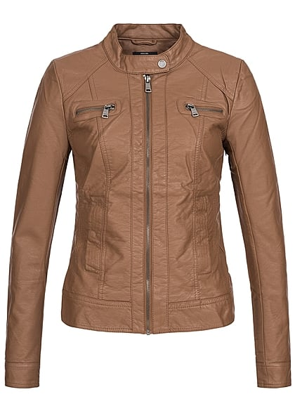 ONLY Dames NOOS Biker Jas 2-Pockets cognac bruin