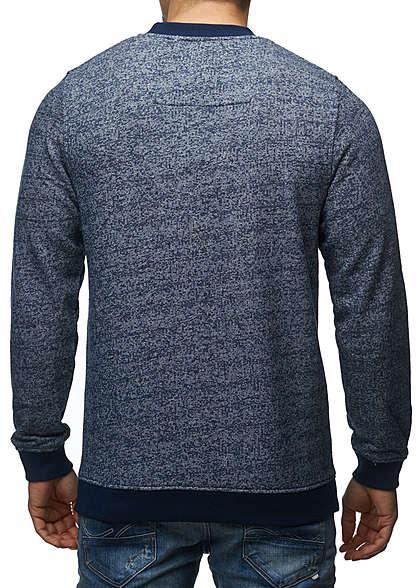 Jack and Jones Herren Sweater Crew Neck Brusttasche Regular Fit navy blazer melange