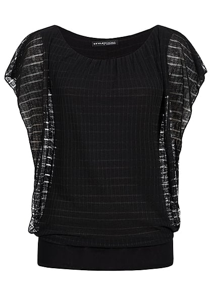 Styleboom Fashion Dames Top zwart - Art.-Nr.: 21036554