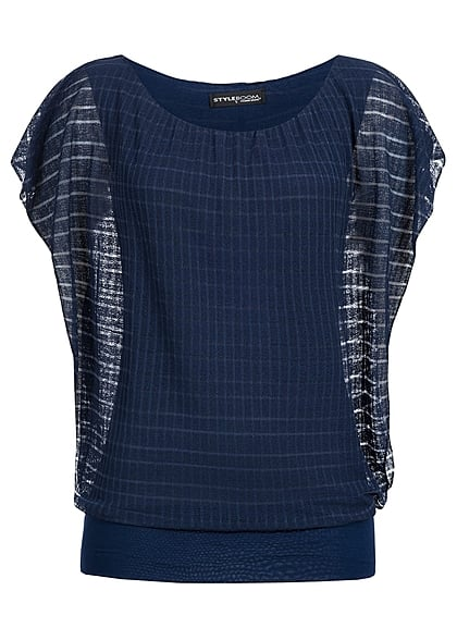 Styleboom Fashion Dames Top navy blauw - Art.-Nr.: 21036558