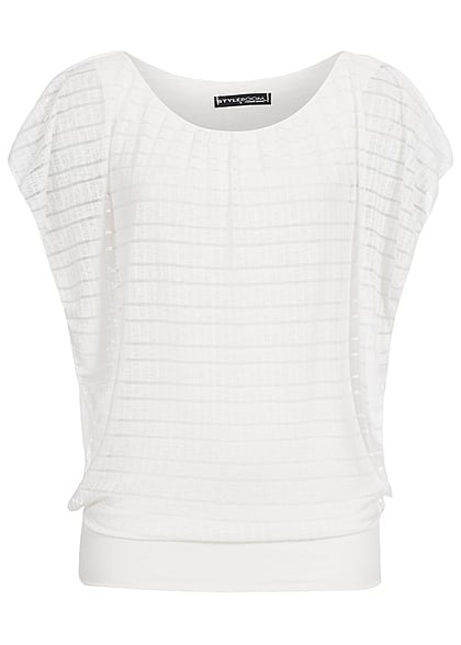 Styleboom Fashion Dames Top off wit - Art.-Nr.: 21036557