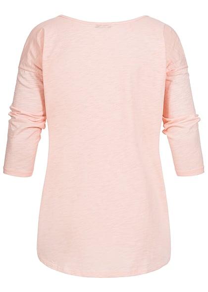 ONLY Damen Sweater Einhorn Kopf peachy keen rosa