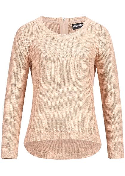 hailys damen strick pullover zipper hinten rosa 77onlineshop. Black Bedroom Furniture Sets. Home Design Ideas