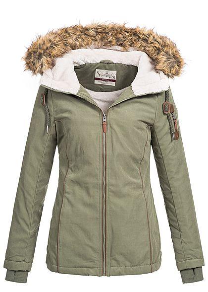 505a3cc77187 S · M · L · XL · Eight2Nine Damen Winter Jacke abnehmbares Kunstfell by Urban  Surface ...
