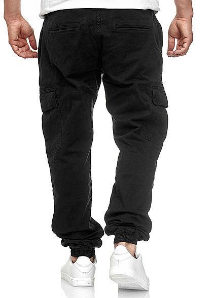 Urban Classics Heren Cargo Joggpants 6-Pockets zwart