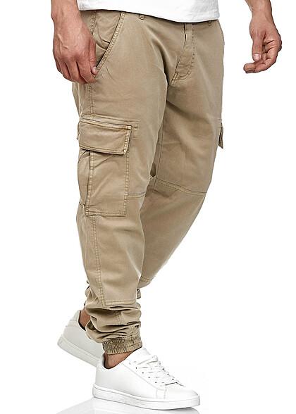 Urban Classics Heren Cargo Joggpants 6-Pockets sand beige