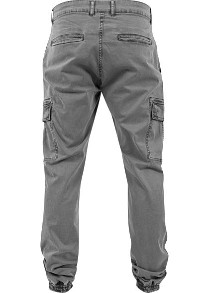 Urban Classics Heren Cargo Joggpants Broek 6-Pockets grijs denim