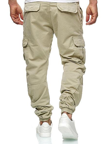 Seventyseven Lifestyle Herren Cargo Jogging Hose 6-Pockets sand beige