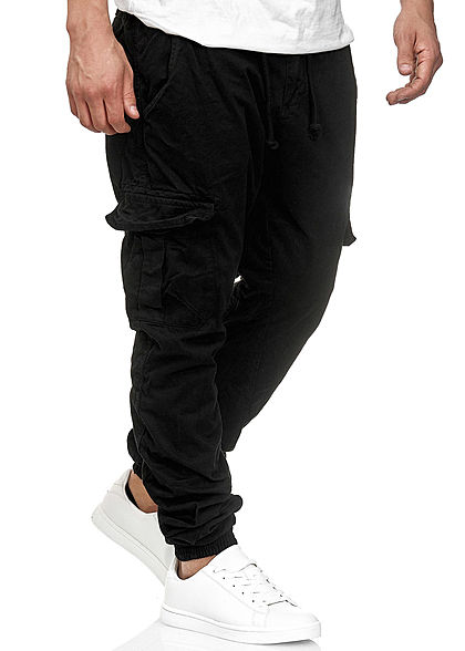 Urban Classics Heren Cargo Sweat Pants 6-Pockets zwart