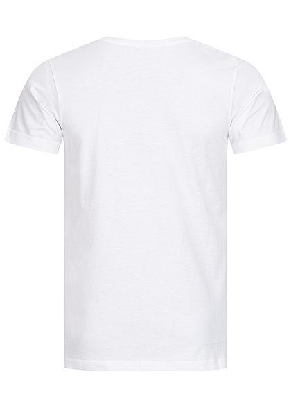 Urban Classics Heren T-Shirt Aztec Print wit