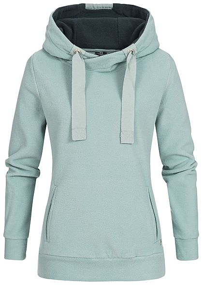XS · XL · Eight2Nine Damen Fleece Hoodie Kapuze Kängurutasche by Sublevel  hell blau türkis 2e686c5a19