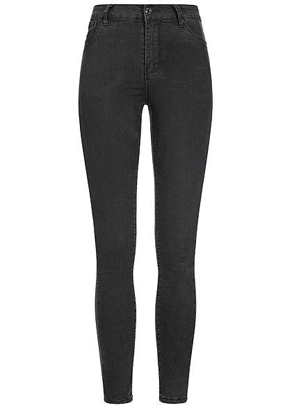 939289532099 XS · S · M · L · Hailys Damen High-Waist Skinny Jeans Hose 5-Pockets schwarz