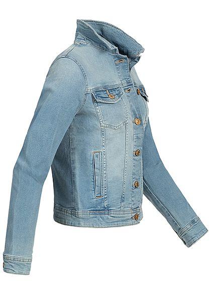 ONLY Damen NOOS Jeans Jacke 4-Pockets hell blau denim