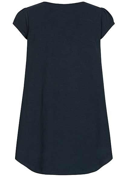 Name It Kids Mädchen Tunic T-Shirt Butterfly Sequins dark sapphire blau