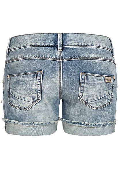 Name It Kids Mädchen Jeans Shorts Deco Pearls 5-Pockets NOOS hell blau denim