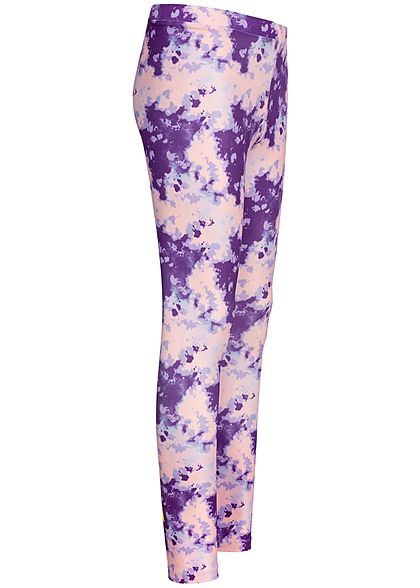 Name It Kids Mädchen Leggings Abstract Dance Print pansy rosa lila