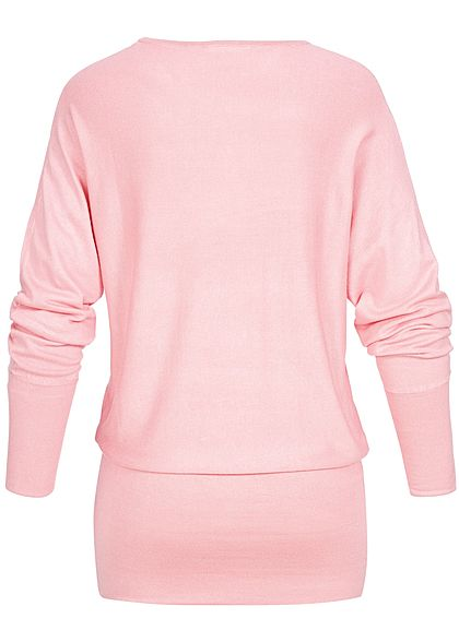 Seventyseven Lifestyle Damen Long Soft Sweater hell rosa