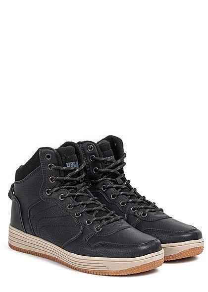 Urban Classics Herren Schuh High Top Winter Sneaker schwarz