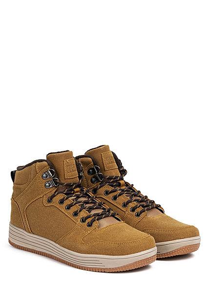 Urban Classics Heren Shoe High Top Winter Sneaker honey bruin