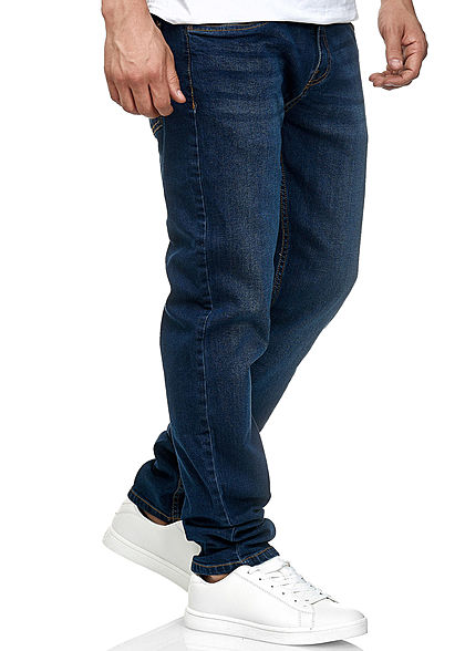Urban Classics Heren Stretch Denim Jeans Broek 5-Pockets donkerblauw