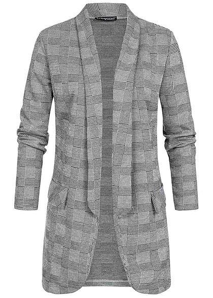 Styleboom Fashion Damen Blazer mit Bindegürtel wine rot