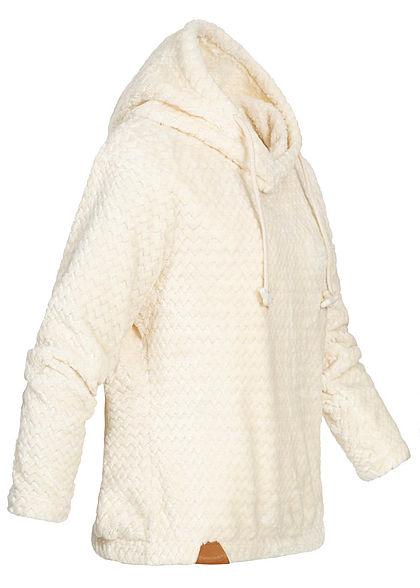 Seventyseven Lifestyle Damen Structure Fleece Hoodie ecru off weiss